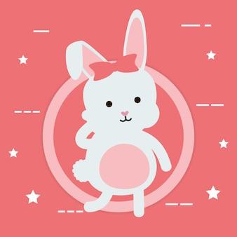 Милый кролик женский персонаж