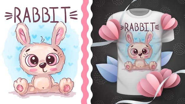 귀여운 토끼-프린트 티셔츠 아이디어
