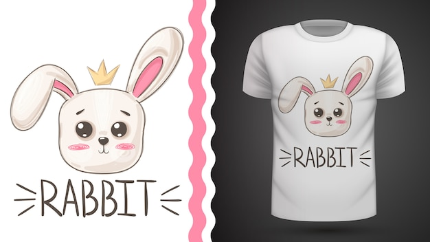 Cute rabbit idea for print t-shirt