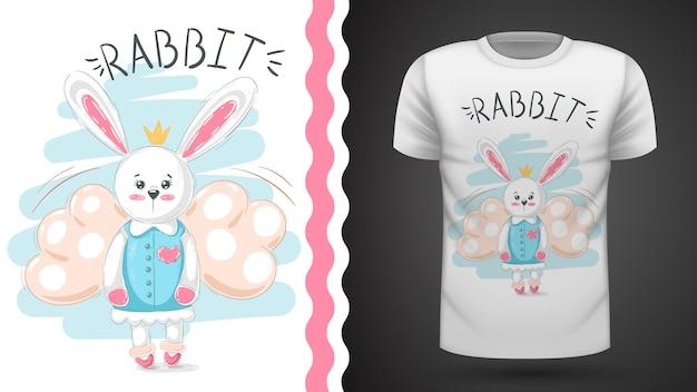 Cute rabbit - idea for print t-shirt