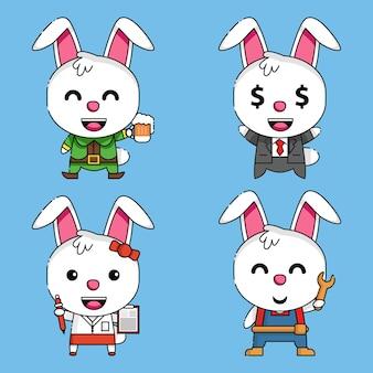 かわいいウサギのマスコットキャラクター