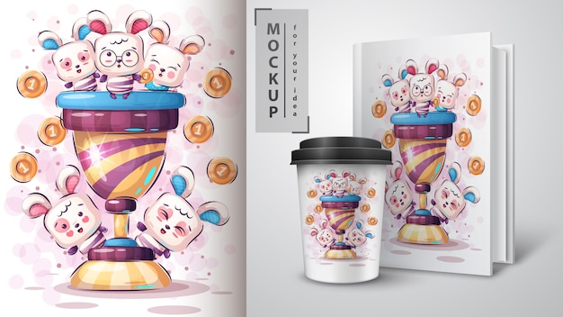 Cute rabbit merchandising