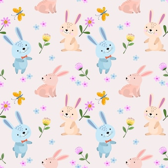 Cute rabbit seamless pattern for fabric textile wallpaper
