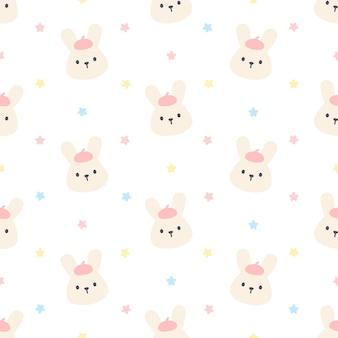 かわいいウサギのシームレスパターン