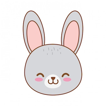 Cute rabbit woodland character