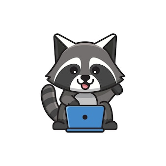 Cute raccoon illustration