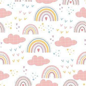 Милые радужные узоры и надписи радуют каждого момента креативный детский принт на ткани