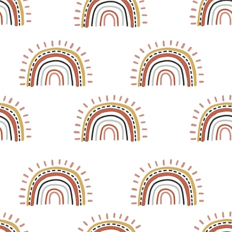 Cute rainbow seamless pattern.  illustration for background,wallpaper,frabic.editable element