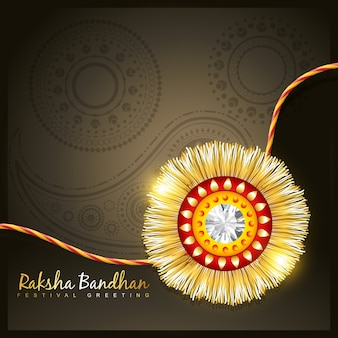 Cute raksha bandhan design