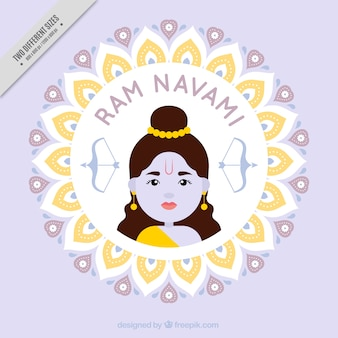 Cute ram navami background