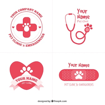 Cute red vet logos