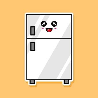 かわいい冷蔵庫の漫画のデザイン