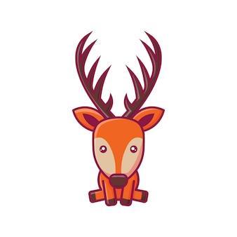 Cute reindeer chibi character
