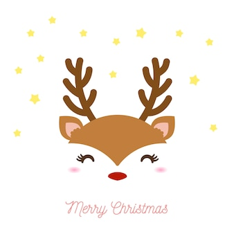 Cute reindeer for christmas