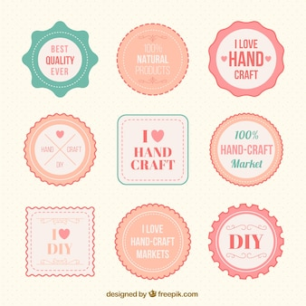 Cute retro badges