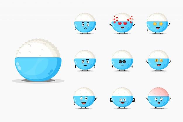 귀여운 쌀 마스코트 디자인 모음