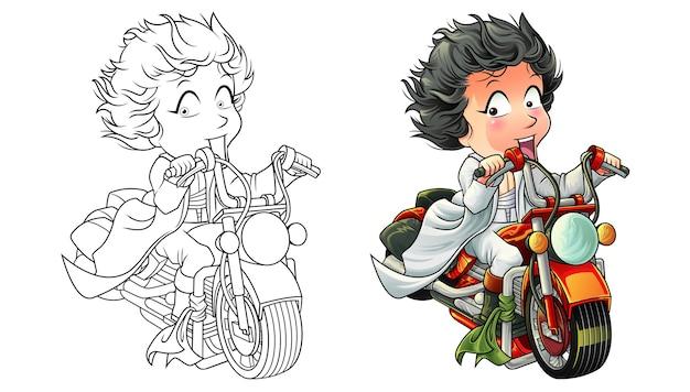 아이들을위한 귀여운 라이더 만화 색칠 공부 페이지