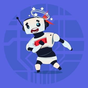 Cute robot dizzy