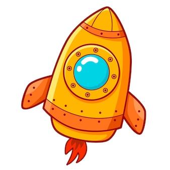 Милый мультфильм ракеты. космический корабль клипарт иллюстрация