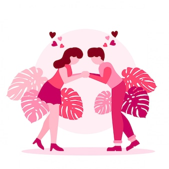 Cute romantic couple valentine