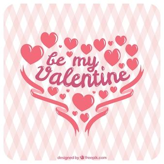 かわいいロマンチックなバレンタインの背景