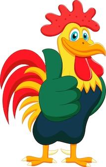 かわいい鶏の漫画の親指