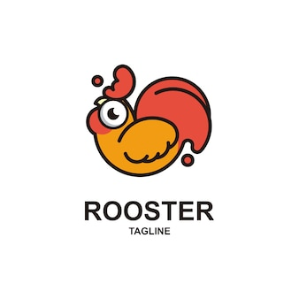 Cute rooster logo