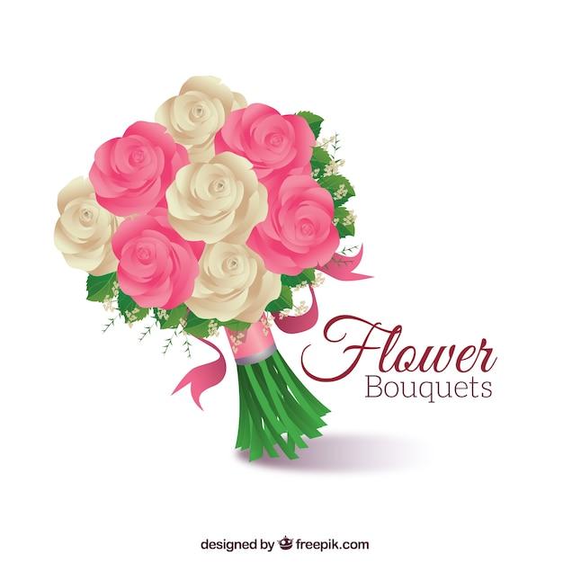 bouquet vectors photos and psd files free download rh freepik com clip art flower bouquet free flower bouquet clipart black and white
