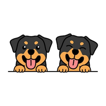 Cute rottweiler puppy cartoon