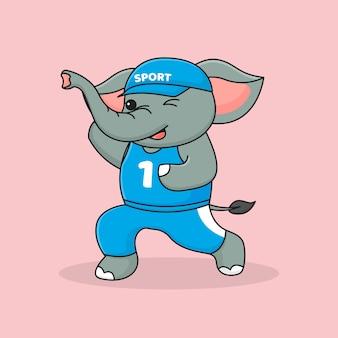 귀여운 실행 코끼리
