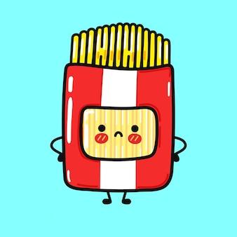 Cute sad spaghetti character