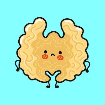 Cute sad walnut character