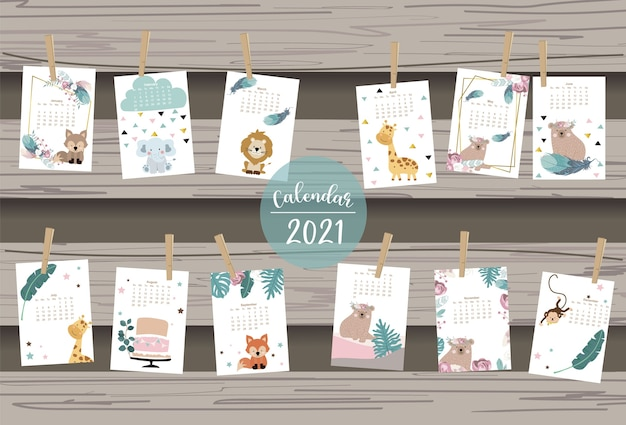 Cute safari calendar