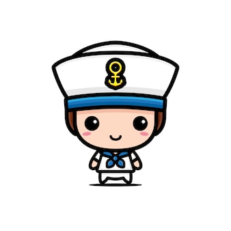 Cute sailor character  design