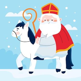 Cute saint nicholas day illustration
