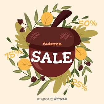Priorità bassa di autunno di vendite sveglie