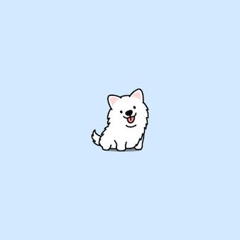 かわいいサモヤドの犬のアイコン
