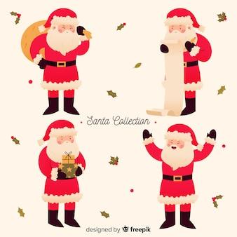 Cute santa character collection