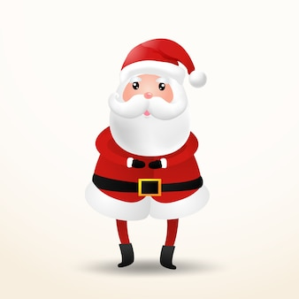 Cute santa claus cartoon character. isolated.