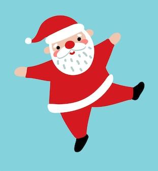 Cute santa claus. flat vector illustration in cartoon style. lovely fun character.