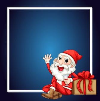 A cute santa claus frame