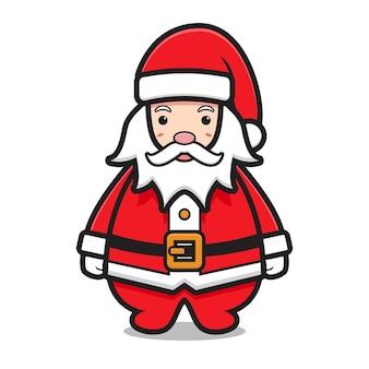 Cute santa claus mascot character