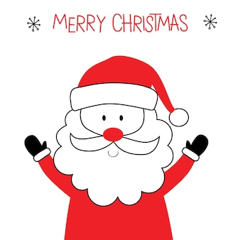 Cute santa claus with red and white color design