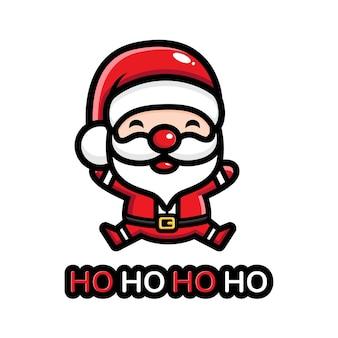 귀여운 산타 디자인 축하 크리스마스