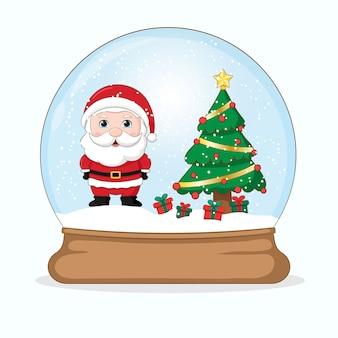 Snowglobe에 귀여운 산타