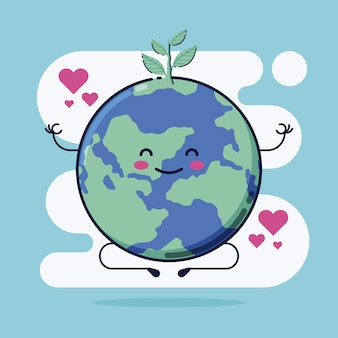 Cute save the planet illustration