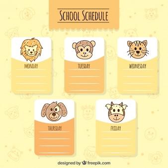 Programma carino scuola con gli animali