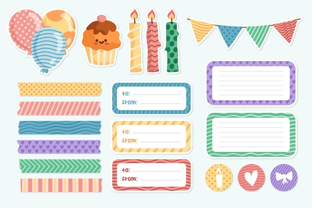 Cute scrapbooking collection for birthday party