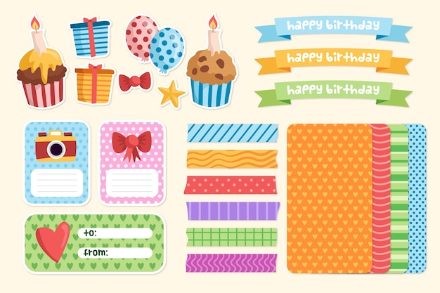 Cute scrapbooking set for birthday party