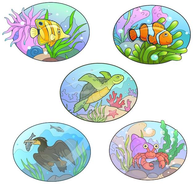 Милые морские животные